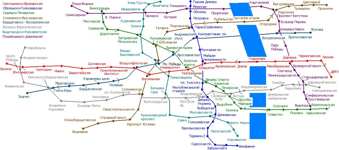 Исторические схемы Киевского