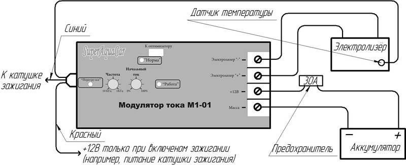 Схема подключения модулятора